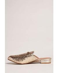 Forever 21 Glitter Bit Buckle Loafer Slides