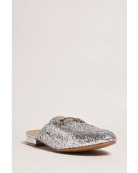 Forever 21 Glitter Bit Buckle Loafer Slides