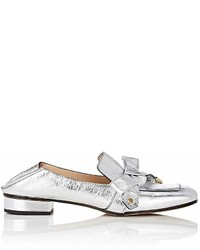 Chloé Quincey Metallic Leather Loafers