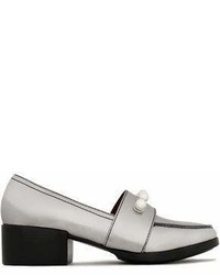 3.1 Phillip Lim Quinn Faux Pearl Embellished Metallic Leather Loafers