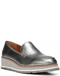 Franco Sarto Sarto By Ayers Metallic Leather Wedge Loafers