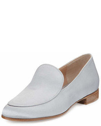 Gianvito Rossi Satin Slip On Loafer