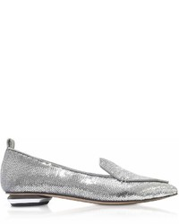 Nicholas Kirkwood Silver Paillettes 18mm Beya Loafer Shoes