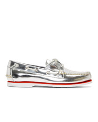 Polo Ralph Lauren Silver Patent Merton Loafers