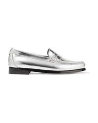 RE/DONE Weejuns The Whitney Metallic Leather Loafers