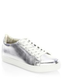 Sophia Webster Bibi Metallic Leather Low Top Sneakers