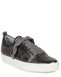 Lanvin Embossed Leather Low Top Sneakers