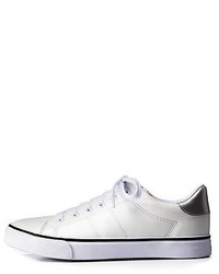 Charlotte Russe Faux Leather Low Top Sneakers
