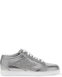 329befaa7368 Jimmy Choo Women's Silver Sneakers from NET-A-PORTER.COM | Women's ...