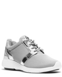 Michael Kors Michl Kors Amanda Mesh And Metallic Leather Sneaker