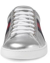 07b382d0b2d2 ... Gucci New Ace Metallic Leather Low Top Sneaker ...