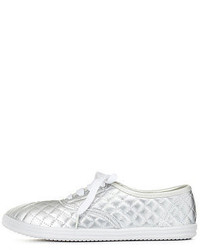 Charlotte Russe Quilted Metallic Low Top Sneakers