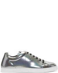 Men's Silver Sneakers by Fendi | Lookastic