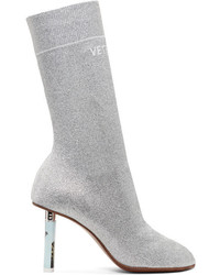 Vetements Ssense Silver Lurex Lighter Sock Boots