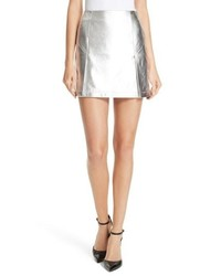 Robert Rodriguez Metallic Leather Miniskirt
