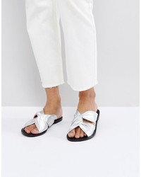 Asos Fave Leather Knot Mule Sandals