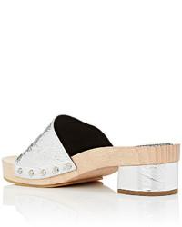 Proenza Schouler Foil Effect Leather Clog Mules