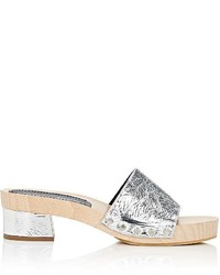 Proenza Schouler Foil Effect Leather Clog Mules