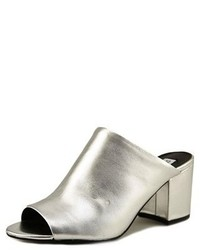 Steve Madden Infinity Open Toe Leather Mules