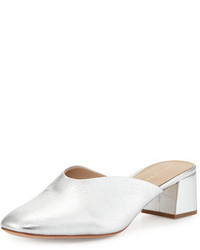 Loeffler Randall Lulu Leather Block Heel Mule Slide