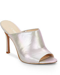 Nine West Funny How Metallic Leather Mules