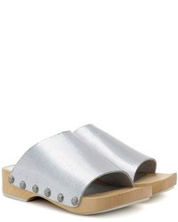 Opening Ceremony Nykola Metallic Leather Clogs