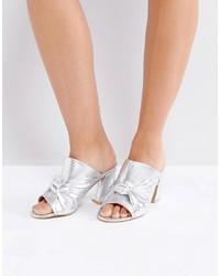 Coco Wren Oversized Knot Front Heel Mule Crackle
