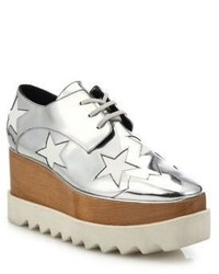 Stella McCartney Elyse Metallic Star Platform Oxfords