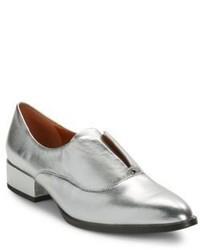 H Halston Selina Leather Oxfords