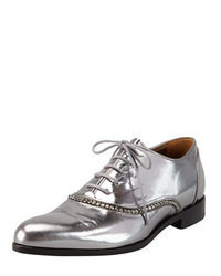 Lanvin Metallic Crystal Trim Oxford