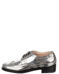 Robert Clergerie Metallic Brogue Oxfords