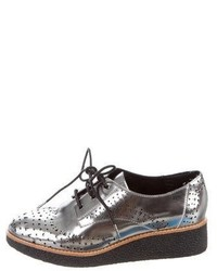 Rebecca Minkoff Metallic Laser Cut Oxfords