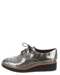 Rebecca Minkoff Metallic Platform Oxfords