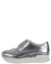 Hogan Metallic Wingtip Oxfords