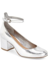 Ankle Strap Block Heel Pump