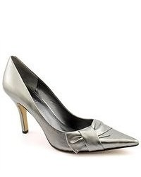Nine West Booboo Silver Heels Narrow Leather Pumps Heels Shoes