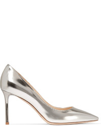 Jimmy Choo Romy Mirrored Leather Pumps Silver