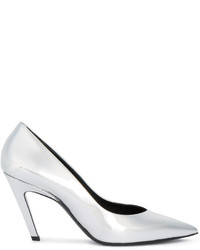 Balenciaga Slash Mirror Metallic Pumps