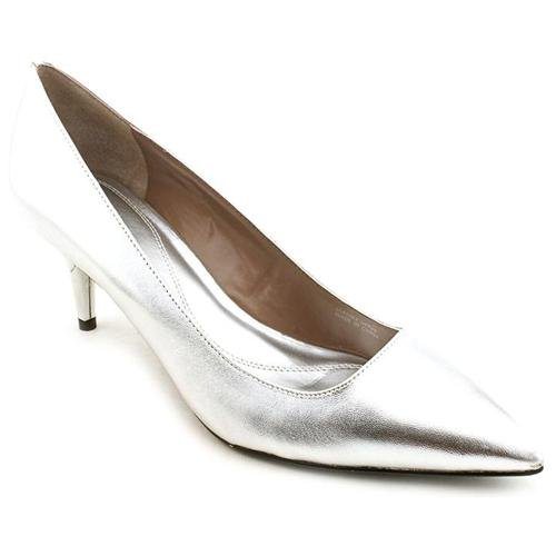 Tahari Harper Silver Leather Pumps Heels Shoes Newdisplay  Where