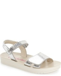 Naturino Toddler Girls Metallic Quarter Strap Sandal