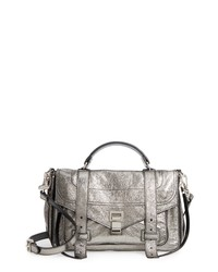 Proenza Schouler Medium Ps1 Metallic Calfskin Satchel