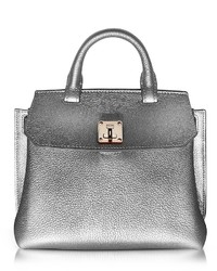 MCM Milla Spike Silver Park Avenue Leather Small Crossbody