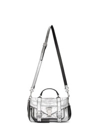 Proenza Schouler Silver Tiny Zip Ps1 Messenger Bag
