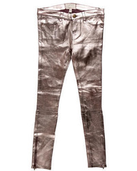 Current/Elliott Metallic Leather Pants W Tags