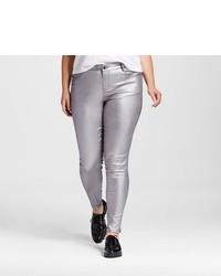 Dollhouse Plus Size Metallic Skinny Pant