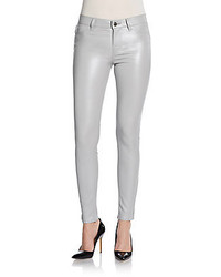 J Brand Stretch Leather Skinny Pants