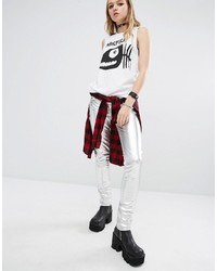Tripp Nyc Metallic Faux Leather Skinny Pants