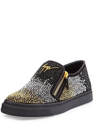 Beaded slip on sneaker metallic medium 573996