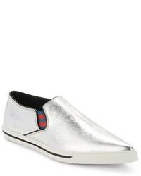 Marc Jacobs Delancey Metallic Slip On Sneakers