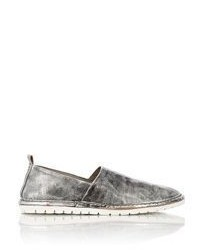 Marsèll Metallic Slip On Sneakers Silver